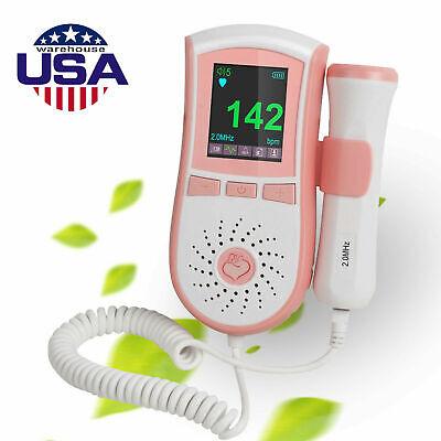 Color Tft Fetal Doppler Prenatal Baby Heart Wave Detector Monitor 3mhz Probe Fda