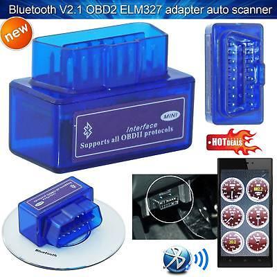 SUPER MINI OBD2 ELM327 V2.1 Bluetooth Car Scanner Torque Android Auto Scan Tool