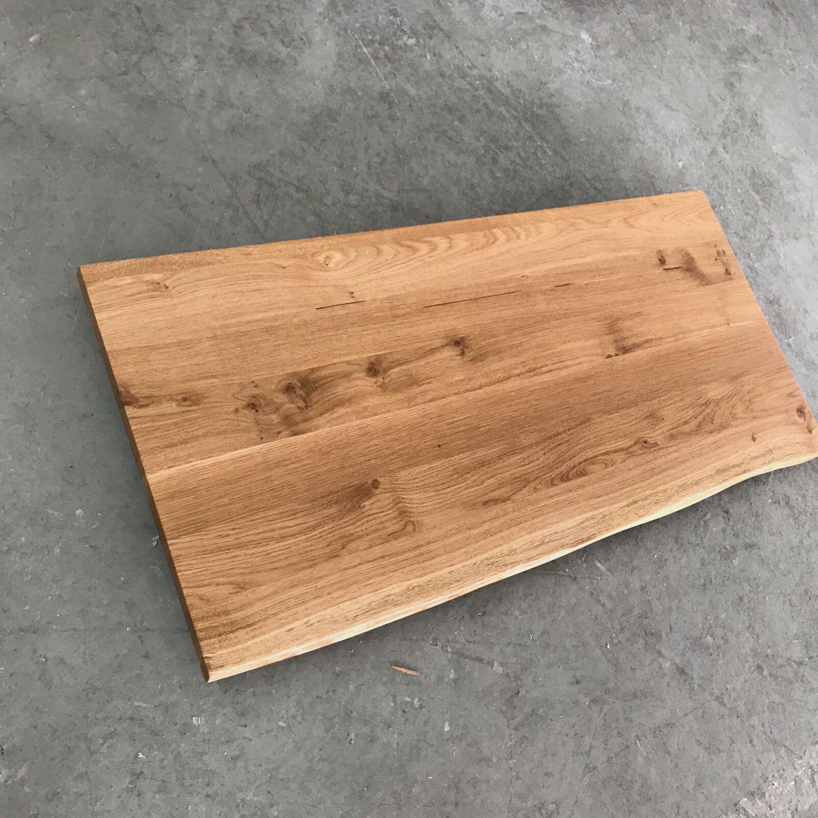 tischplatte platte eiche massiv holz neu tisch brett leimholz mit baumkante eur 148 00. Black Bedroom Furniture Sets. Home Design Ideas