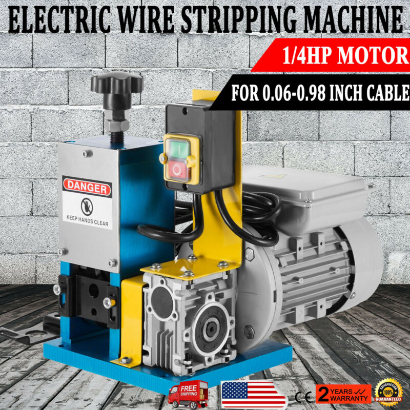 Portable Powered Electric Wire Stripping Machine 1/4HP Electric Cable Stripper