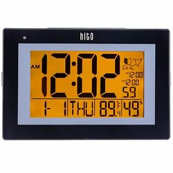 "hito 9.5"" Large Digital Battery Atomic Alarm Clock Desk Wall Clock Self"