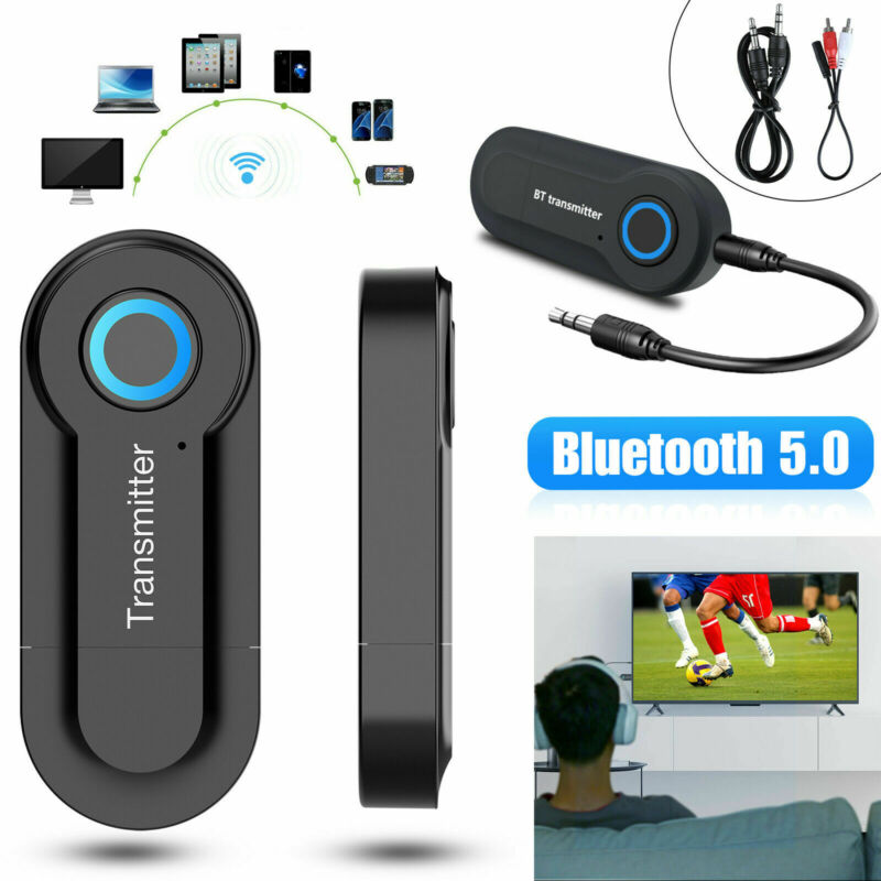 Smart Bluetooth 5.0 Transmitter Wireless Audio 3.5mm Adapter for TV PC Phone