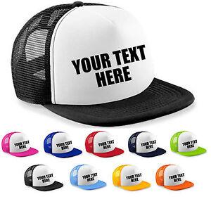 Personalised-Custom-Printed-Half-Mesh-Baseball-Rapper-Cap-Flat-Peak-Snapback