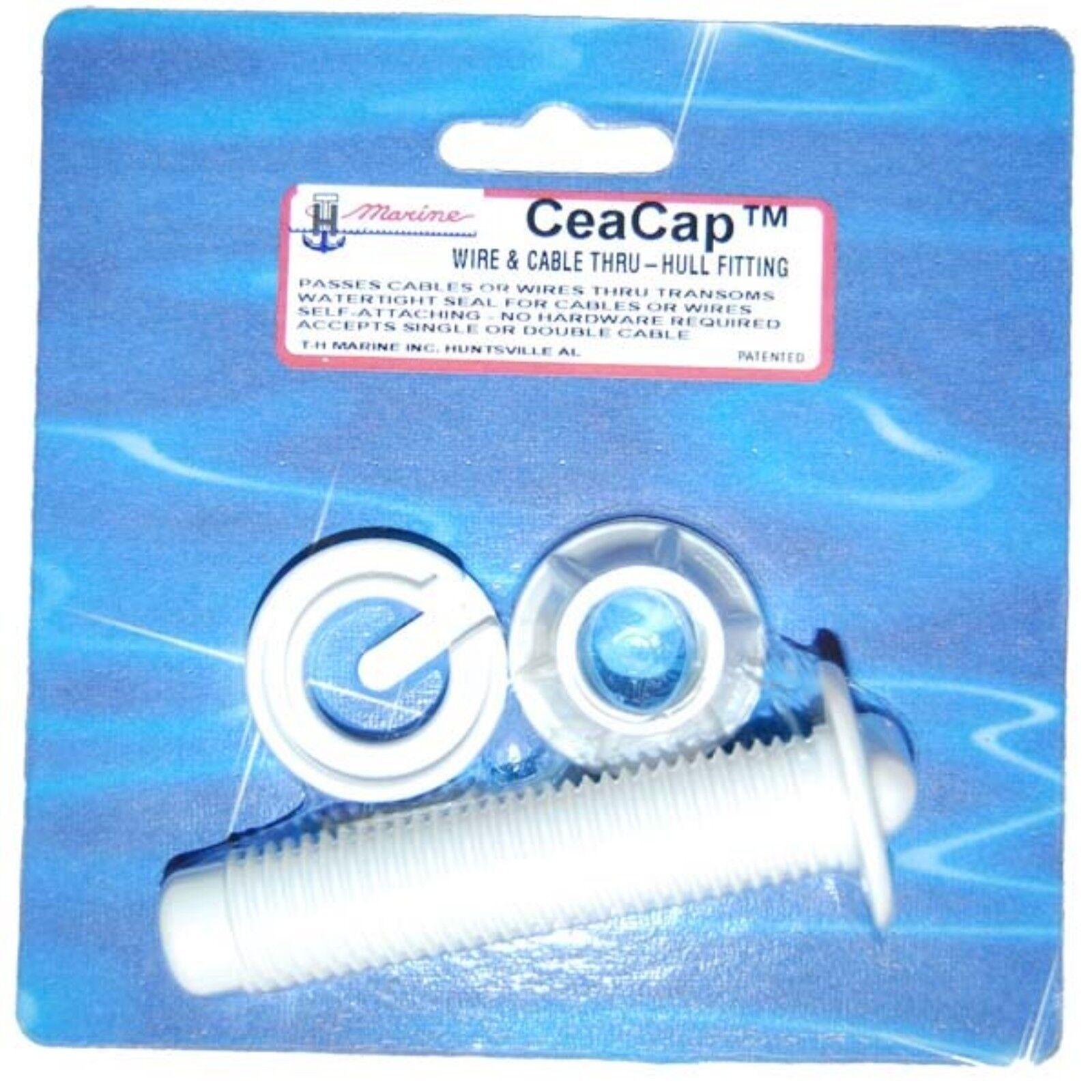 Th marine cc dp ceacap bulkhead pass thru fitting white