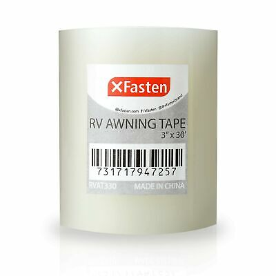 Xfasten Rv Awning Repair Tape 3-inches X 30 Feet Waterproof Rip Stop Patch ...