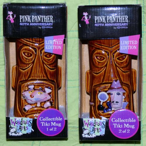 Pink Panther 2 Tiki Mug Set 40th Anniversary 2006 SHAG Josh Agle Limited Edition