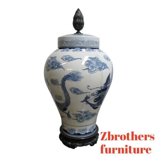 Large Chapman Asian Inspired Vase Urn Porcelain
