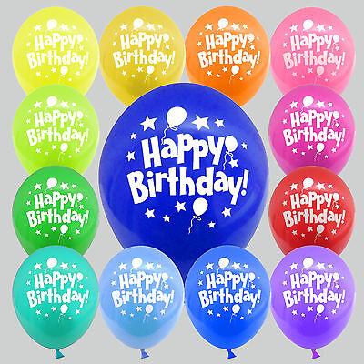 30 / 50 Luftballons Geburtstag Happy Birthday für Feier Party Dekoration ()