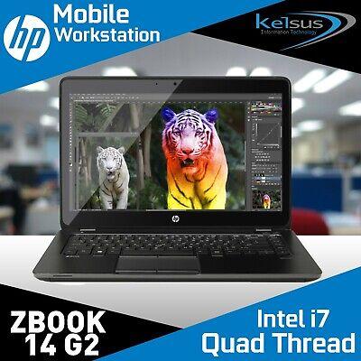 "HP ZBook 14"" Laptop Mobile Workstation i7 5th Gen 8GB 240SSSD Win Pro 10"