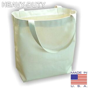 Heavy Duty Cotton Canvas Tote Bag Blank with Gusset  **Made in USA***
