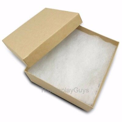 Us Seller100pcs 3 34x3 34x2 Kraft Cotton Filled Jewelry Gift Boxes