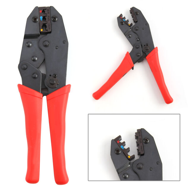 """9"""" Ratchet Crimper Plier Crimping Tool Kit Cable Wire Electrical Terminals UK"""