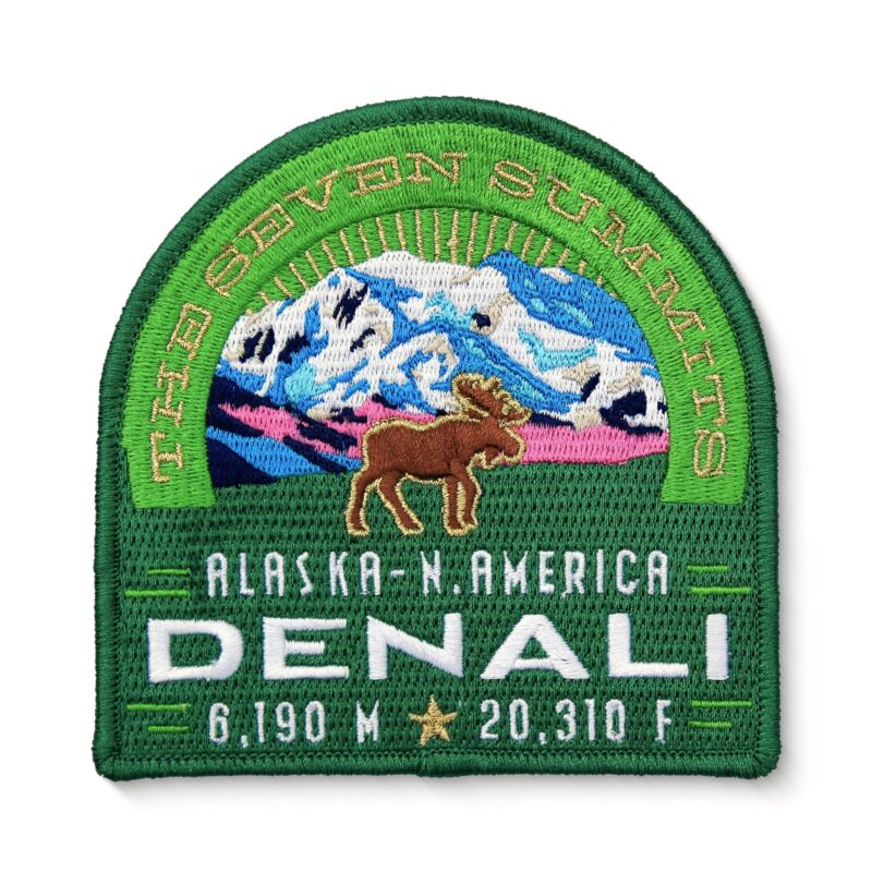Denali Seven Summits Embroidered Iron On Patch