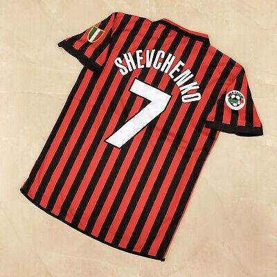 AC Milan 1999-2000 Vintage Classic Soccer Jersey #7 SHEVCHENKO Men Size [L] image