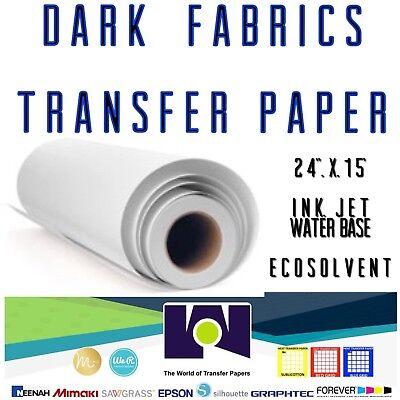 Dark Fabrics Ink-jet Heat Transfer Paper Roll 24x50