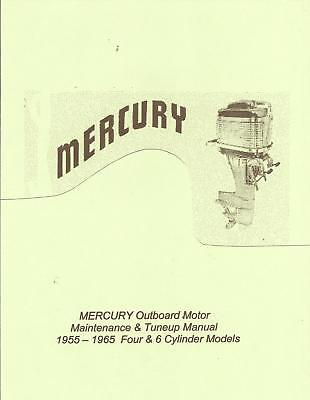 Early MERCURY Outboard Motor Manual 4-6 Cylinder '55-65