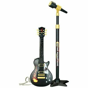 """22"""" Kids Electric 6 String Rock Star Guitar & Extendable Microphone Musical Toy"""