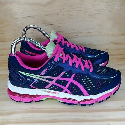 Asics GEL-Kayano 22 Navy Blue Pink Running Shoe Women's Size 6.5