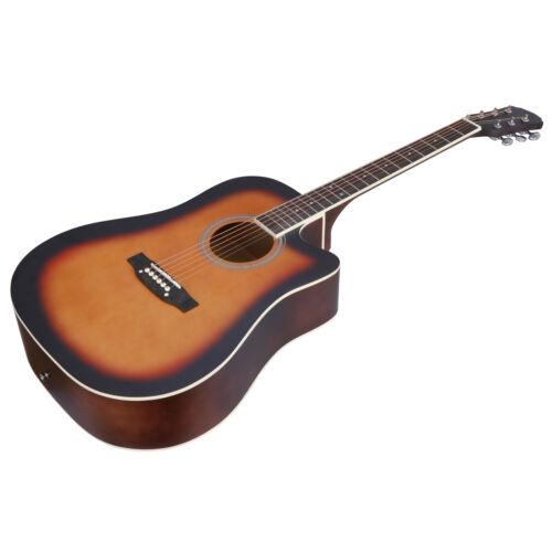 41″ Beginner Acoustic Guitar Starter Kit with Case Strap Tuner Strings Acoustic Guitars