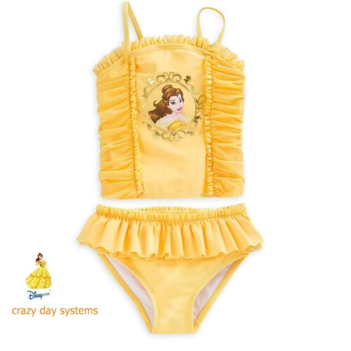 NWT Disney Store Princess Belle Swimsuit Beauty and The Beast 3 4 5 6 7 8 9 10