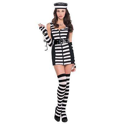 Erwachsene Sexy Gefangener Damen Kostüm Junggesellinnenabschied Outfit - Gefangene Outfits