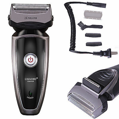 Men's Rechargeable Cordless Electric Razor Shaver Groomer Two-ply Edge Trimmer US