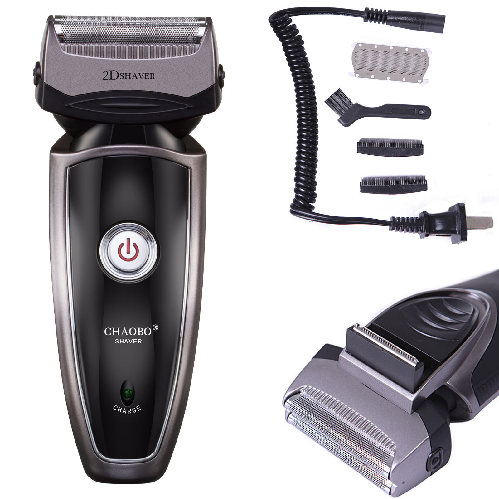 Men's Rechargeable Cordless Electric Razor Shaver Groomer Double Edge Trimmer US Electric Shavers