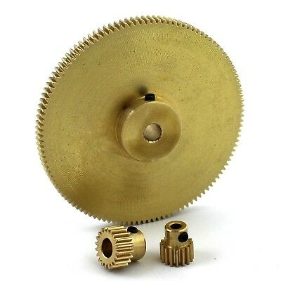 0.5 Modulus Brass Spur Gear 16 To 120 Tooth 3 To 8mm Hole Dia. Drive Gearbox