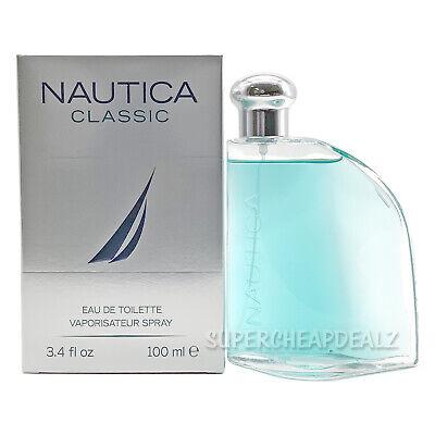 Nautica Classic for Men 3.4 oz Eau de Toilette Spray NIB AUTHENTIC