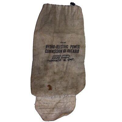 1920s Style Purses, Flapper Bags, Handbags Vintage 1920's Ontario Hydro Bank Cash Money Cloth Bag Deposit Sac Toronto Power $24.99 AT vintagedancer.com