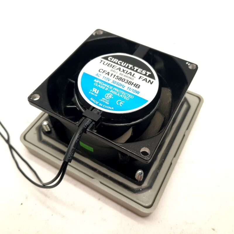 Circuit-Test CFA1158038HB Fan 115VAC & Hammond Enclosure Vent Filter 80x80mm