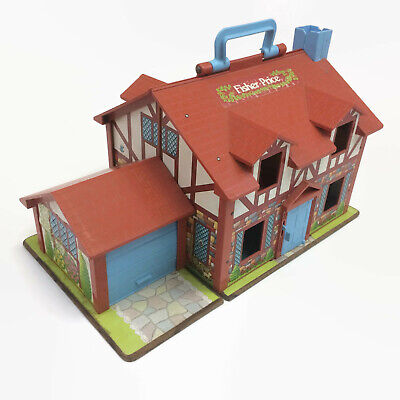 Fisher Price Little People Tudor House # 952 House with Garage 1969 Vintage