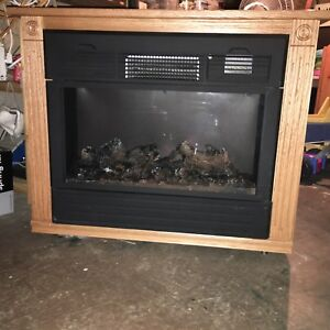 Hand-built electric fireplace