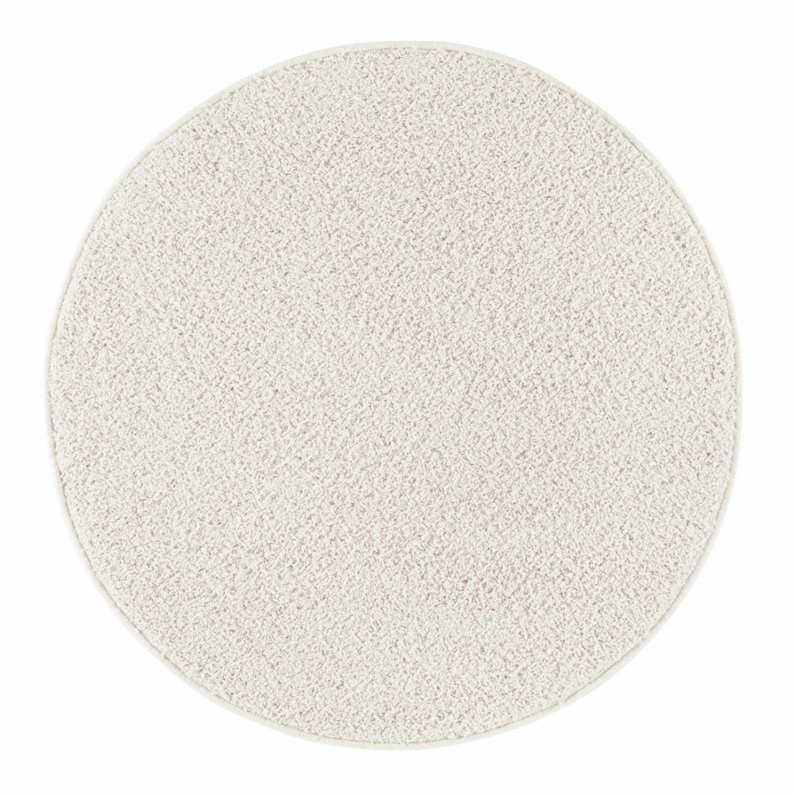 Teppich Kurzflor Teppich modern Kinderteppich Creme-Weiß rund 100 cm oder 133 cm