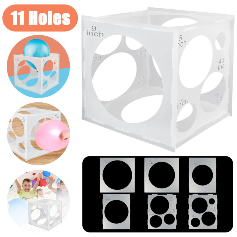 11Hole Balloon Sizer Box Measurement Tool Square Stable Cube Party Wedding Decor