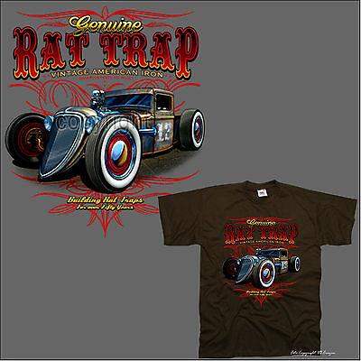 Hot Rod Garage (classic Hot Rod Custom Speed Vintage Car Oldtimer Shop Garage T-Shirt *1132 br)