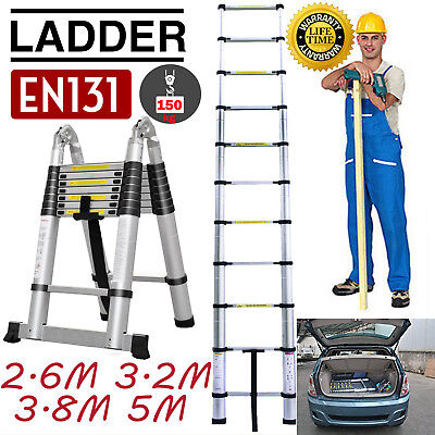 5M-6.2M Portable Heavy Duty Multi-Purpose Aluminium Telescopic Ladder Extendable
