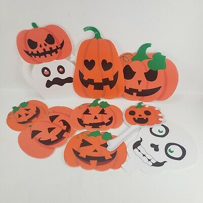 8 PCS Halloween Decorations Outdoor Halloween Yard Decorations Signs Stakes Cute