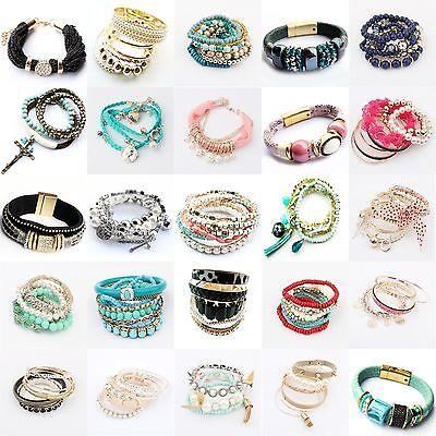 Bracelet - Fashion Women Lots Style Bracelet Rhinestone Bangle Charm Cuff New Jewelry