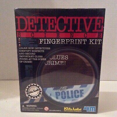 NEW SEALED Fingerprint Kit Forensics Detective Police Crime Science Game Kids