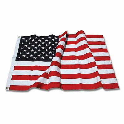 3x5 ft US American Flag Heavy Duty Embroidered Stars Sewn Stripes Grommets Nylon Cotton Embroidered American Flag