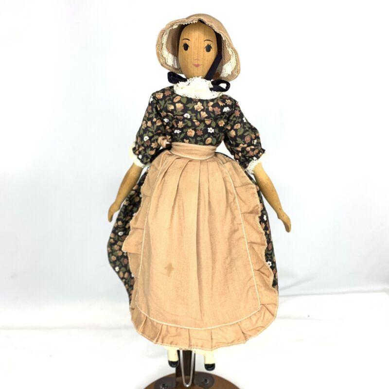 "1950s Wood Polly Shorrock Doll Marblehead Mass 12"" Alice Wainwright Floral Dress"
