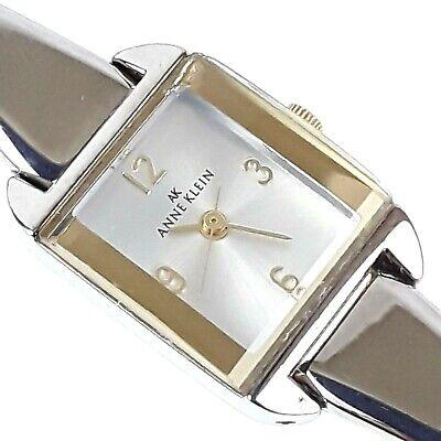 Anne Klein Women's Quartz Watch 10/4892-3 Two Tone Hinged Bracelet