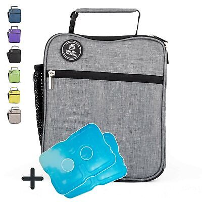 Healthy Packers Insulated Lunch Box for Adults and Kids w/ 2