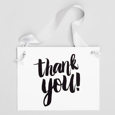 Thank You Banner (Thank You Sign Banner for Wedding Party Event Conference Gift Table Black)