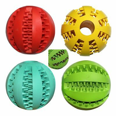 Dog Toy Ball Chew Pet Puppy Teeth Clean Treat Bite Durable Training Rubber