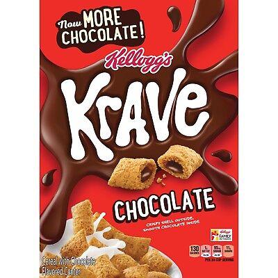 NEW KELLOGGS KRAVE CHOCOLATE 11.4OZ CRISPY SHELL OUTSIDE SMOOTH CHOCOLATE INSIDE