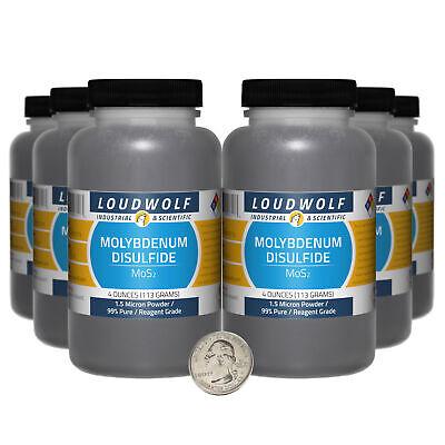 Molybdenum Disulfide 1.5 Lbs 6 Bottles 99 Reagent Grade