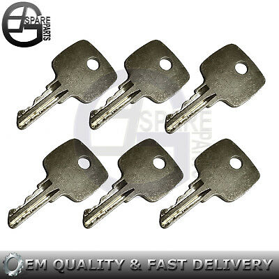 6 Ignition Keys For John Deere Loader Tractor Backhoewheel Loader Ar51481