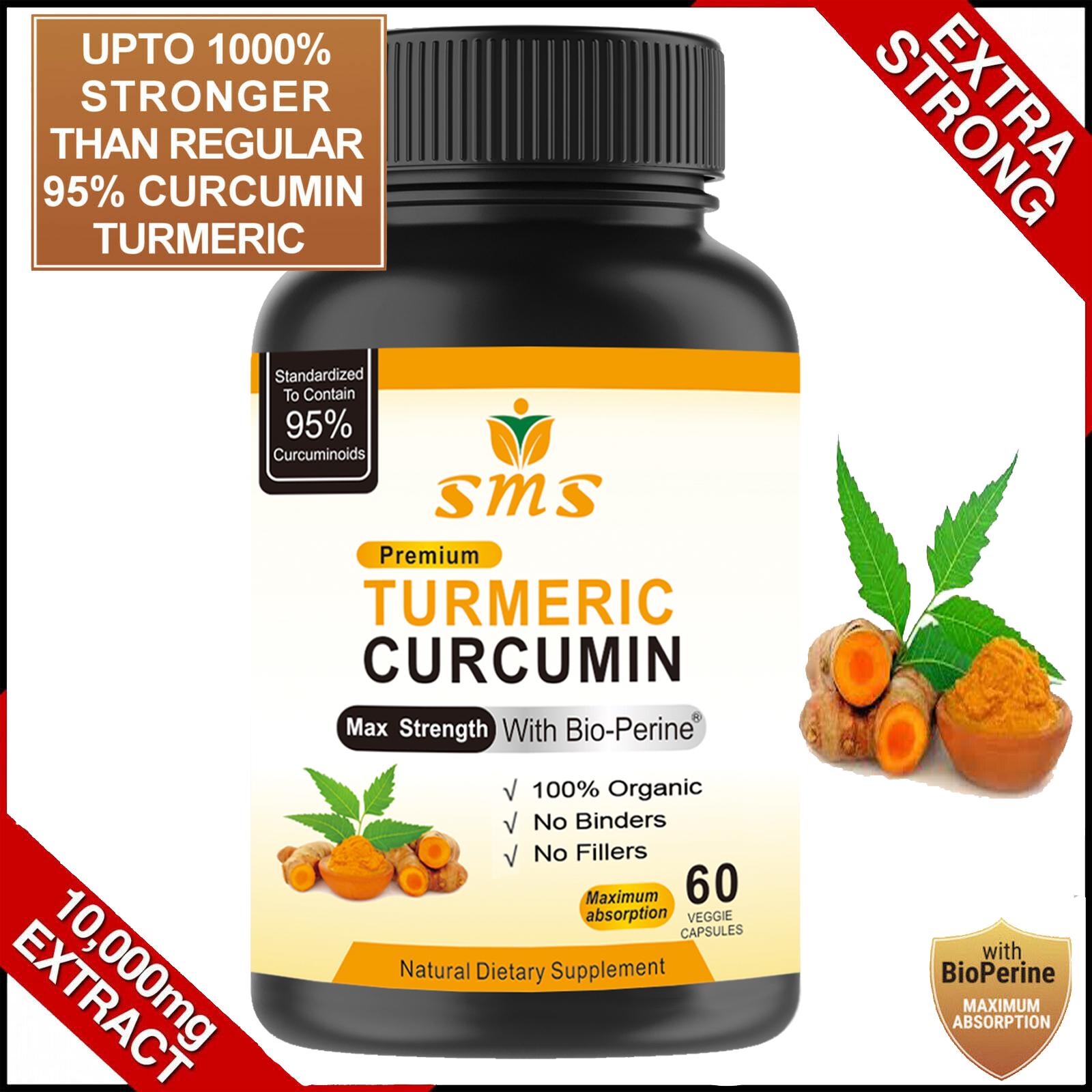 TURMERIC 95% CURCUMIN 10,000mg EXTRACT TUMERIC BLACK PEPPER